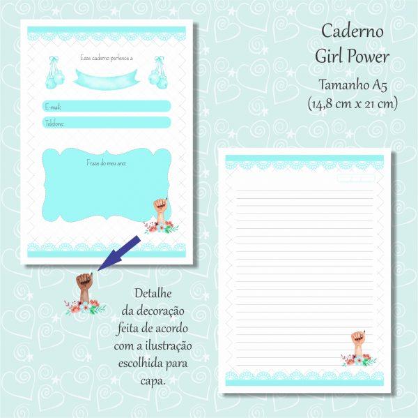 caderno azul